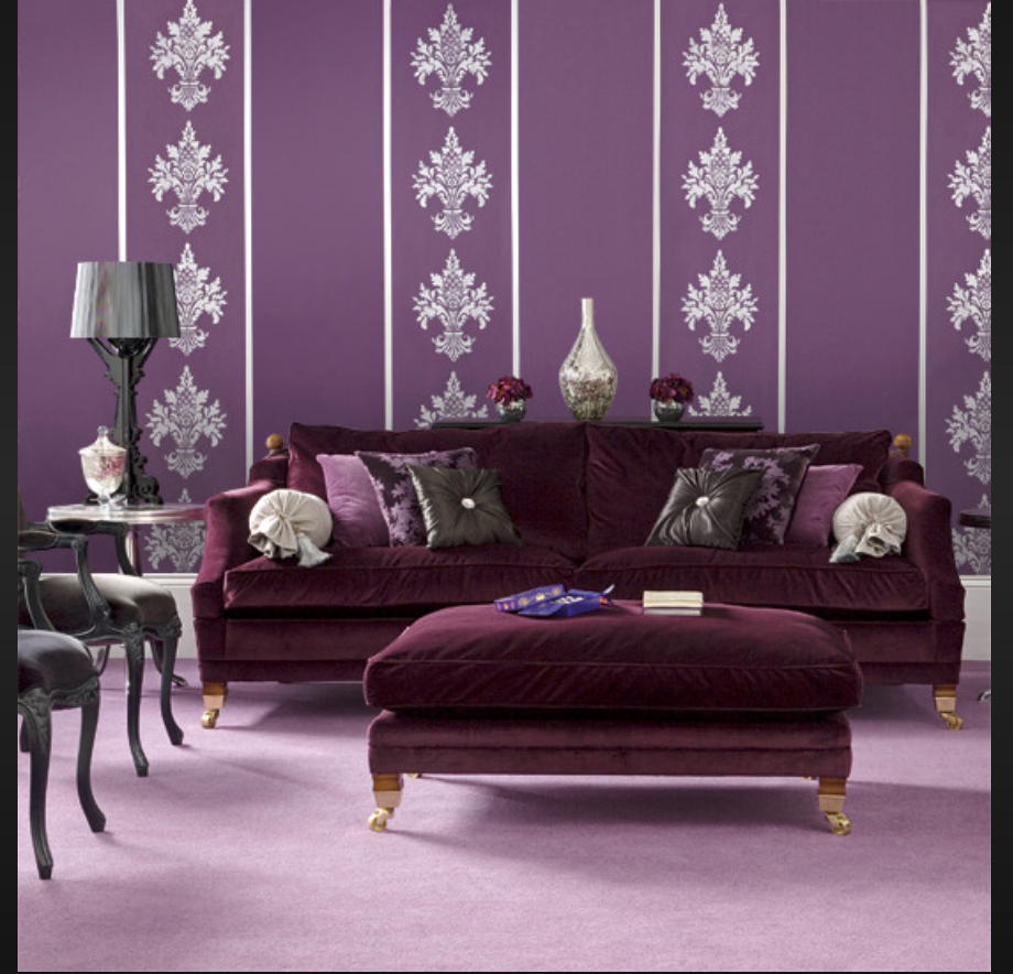 Interior design often flows along the same lines with fashion, and all shades of lavender are au courant.