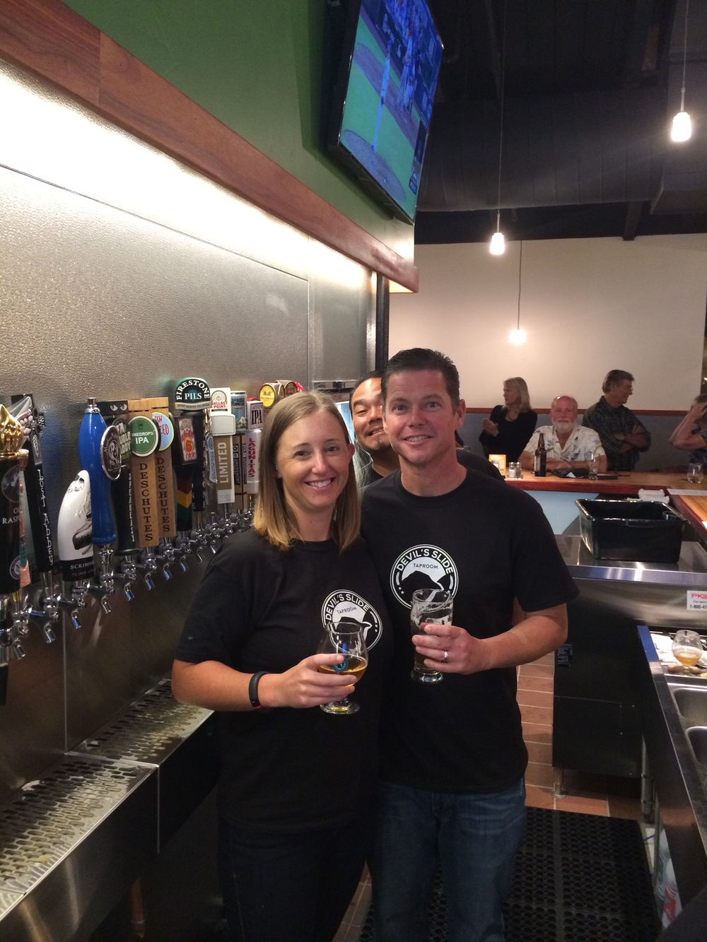 Theresa and Shane_taproom