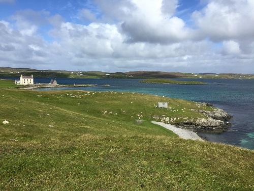 Burrastow House on Shetland near Walls, summer 2016