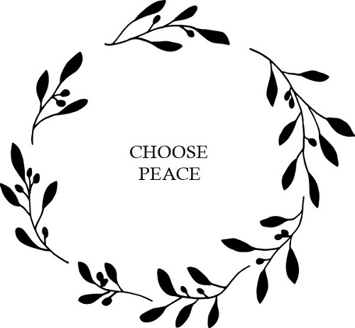 Olive Branches Small Black_Solid Wreath_choose peace.jpg