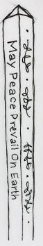 My peace  pole doodle