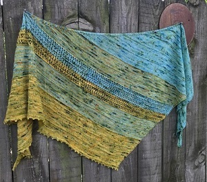 International Peace Park Shawl now available on Ravelry