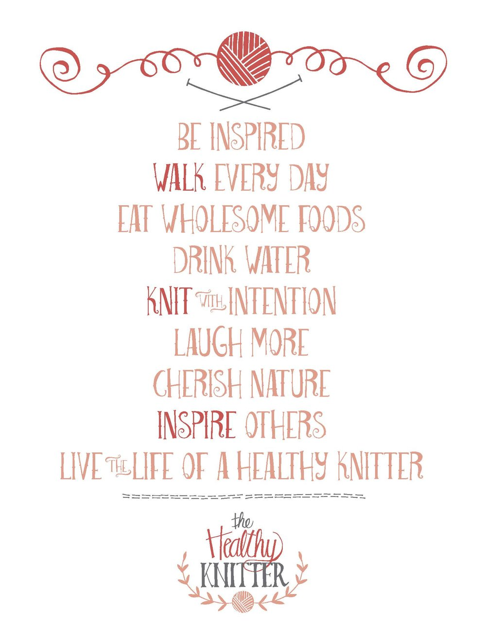 The Healthy Knitter Poem