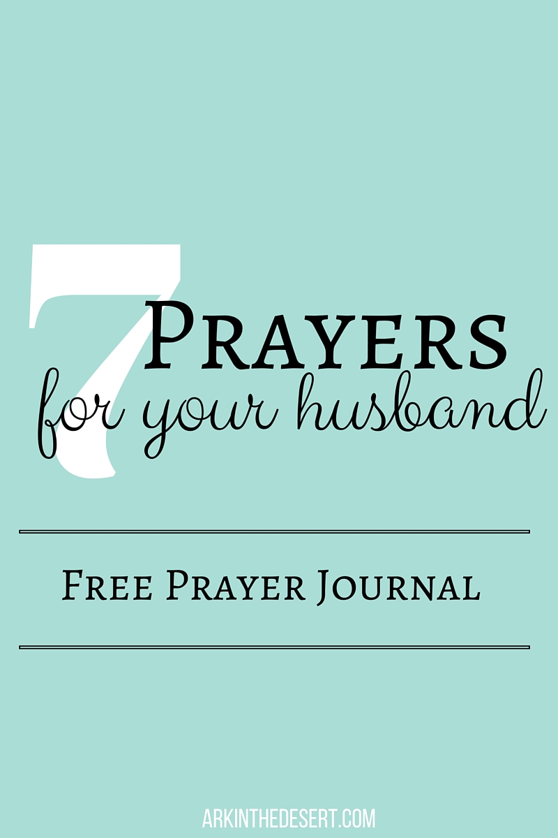 7 prayers for your husband journal