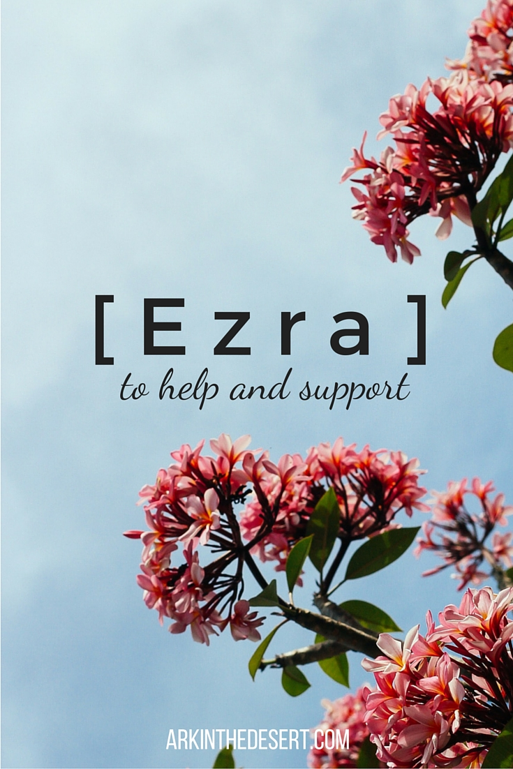 Ezra to help and support. A unique design created by God for human flourishing. Have you been called to Ezra?
