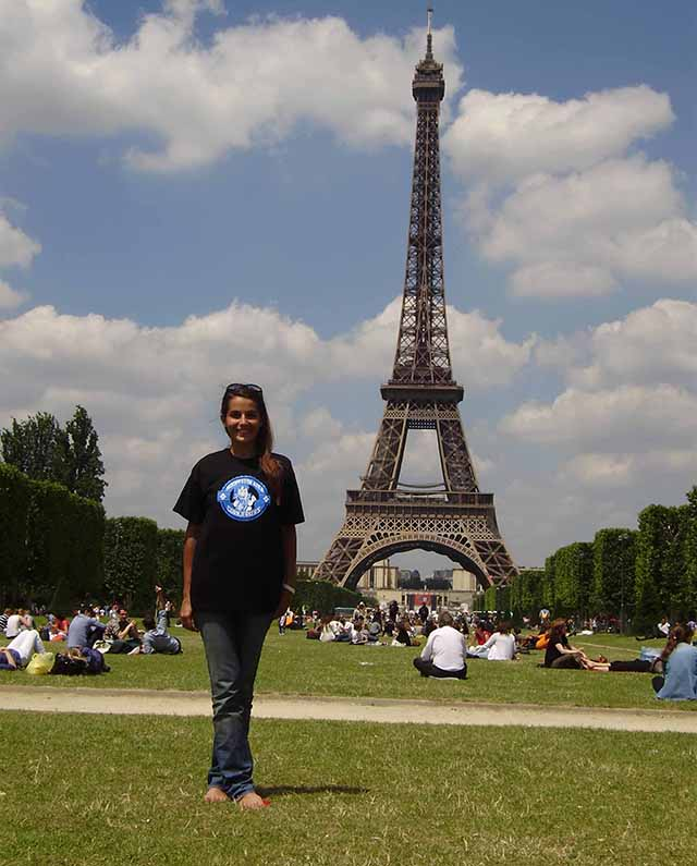 Foreign Exchange Student at the Eiffel Tower- Paris, France