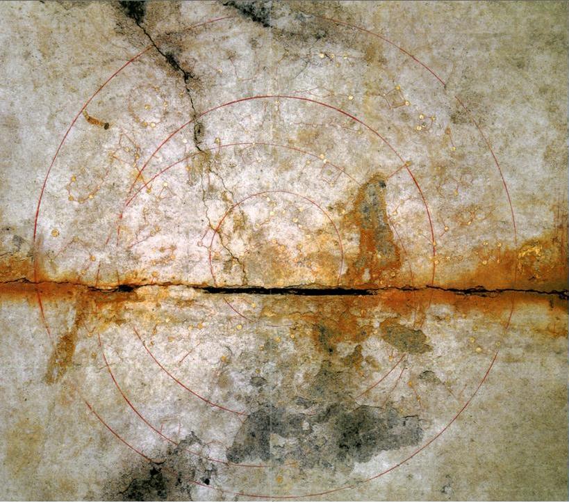 Kitora Tumulus star chart from Cave in Asuka-Fujiwara Cave. Image from Wikimedia commons.
