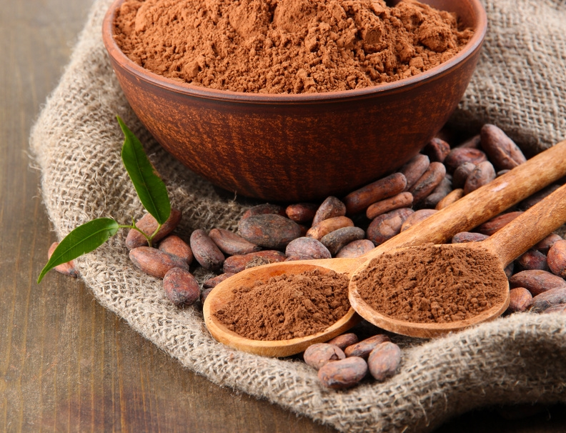 Image result for cacao beans powder