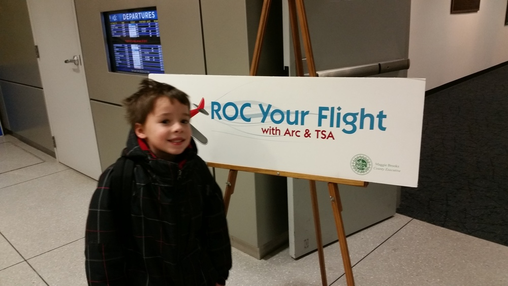 Emerson attends the ROC Your Flight Program, presented by the TSA and the ARC of Monroe County.