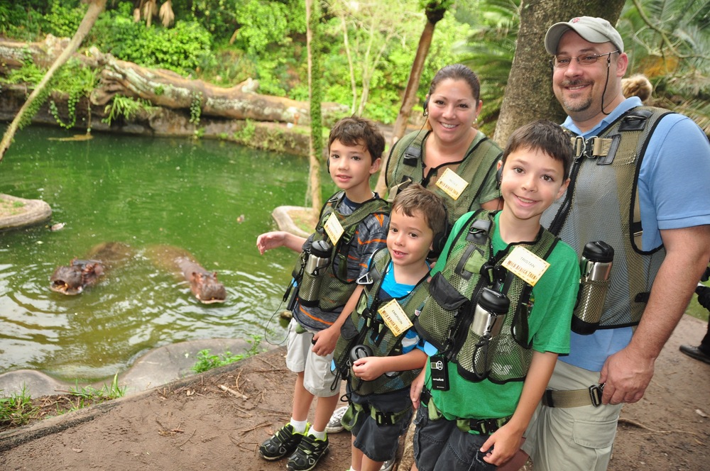 Our family on Animal Kingdom's Wild Africa Trek