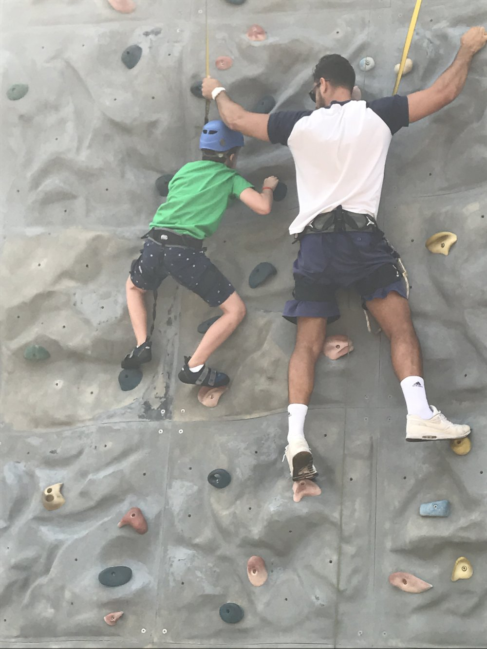 Stuck on the rock wall