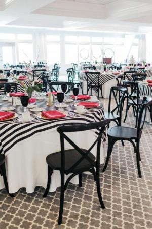 For a luncheon for Delaware Perfect Wedding Guide, The Clubhouse at Baywood sported a décor inspired by designer Kate Spade. Maria DeForrest PHOTO