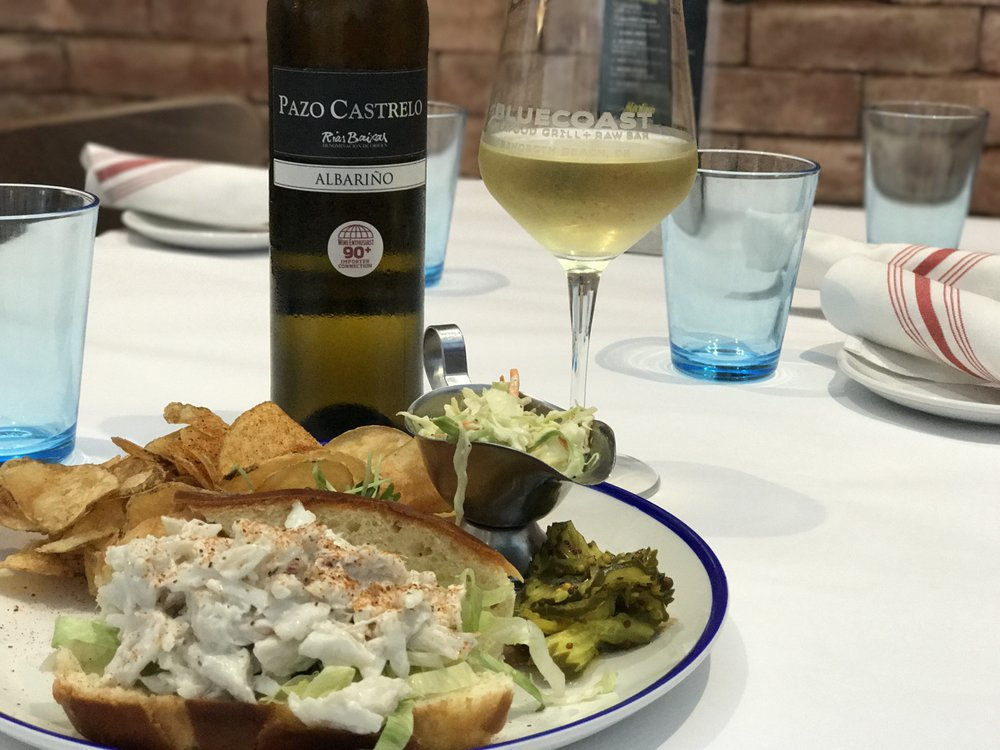 2015 Pazo Castrelo, Albarino paired with the crabroll at Bluecoast Rehoboth