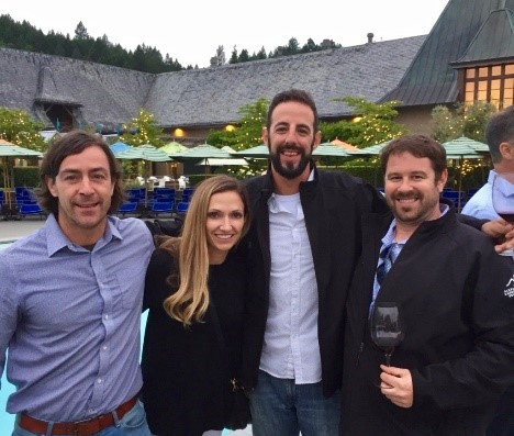 Mike Zygmonski (far right), the director of wine for SoDel Concepts, recently attended the Cabernet Academy in Alexander Valley, California. He's pictured here with fellow attendees and Denise Trione, owner of Trione Vineyards, which sponsored Zgymonski's trip.