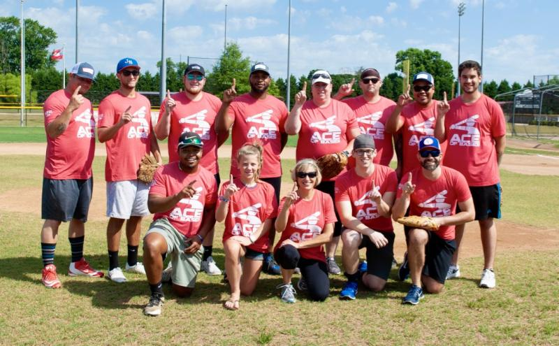 Team Ace of Bases won this year's SoDel Summer Softball Showdown, a friendly competition among employees of SoDel Concepts. Shown in back are (l-r) Charles Armstrong, Jeff Taylor, DJ Dougherty, Kevin Maull, Penni E'Nama, Dave Inman, Zimri Gomez and Ben Masino. In front are David Kennedy, Emma Ruley, Danielle Panarello, Chris Carmean and Andrew Dickinson. Players not shown include Frank Bufo, Alexa Perez, Colin Berl and Billy Ott. SUBMITTED PHOTOS
