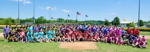 SoDel Concepts employees divided into eight teams to compete at the fourth annual SoDel Summer Softball Showdown.