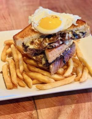 A patty melt with a sunny-side-up egg, mushrooms and Dijonnnaise has been a featured selection at Fish On in Lewes during SoDel Concepts' Grilled Cheese Month promotion.