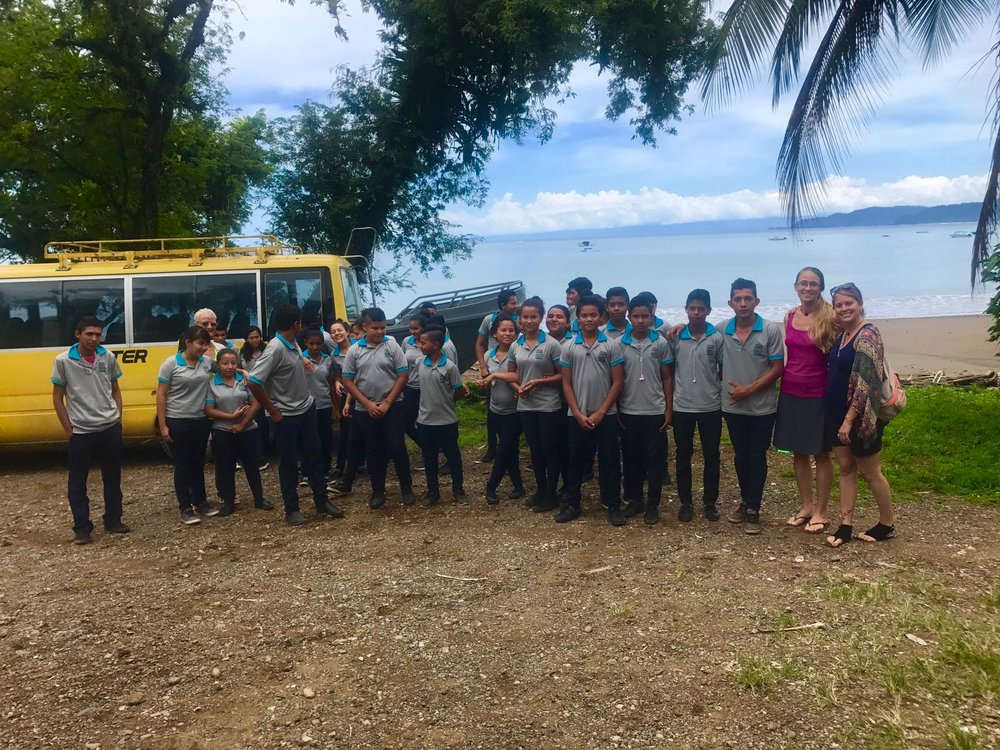 High school students of the drake bay enrichment program supported by LiveGlobally community donations in Costa Rica 2017.