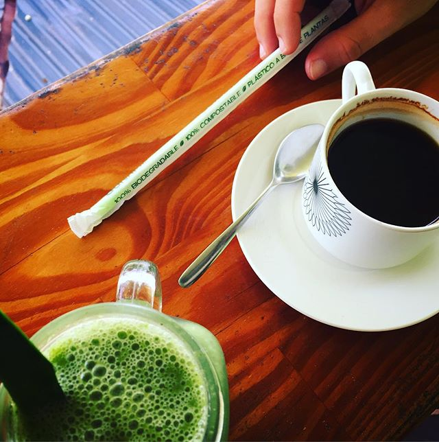 #morningcoffee #100percentbiodegradable #biodegradable #greentogo #greenliving #livingyogq #costarica