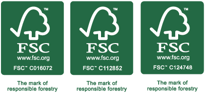 Our FSC™ certifications