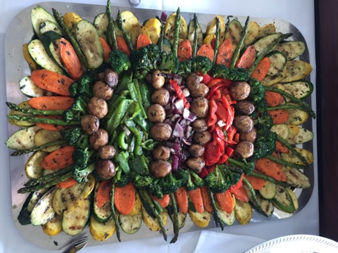 Herb Grilled Vegetable Crudite Platter