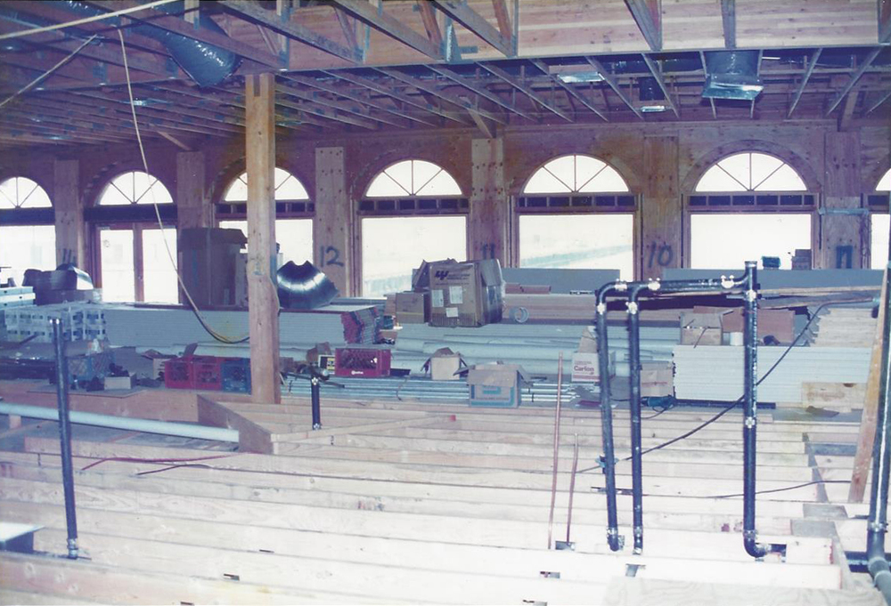 Restaurant under construction in 1989.