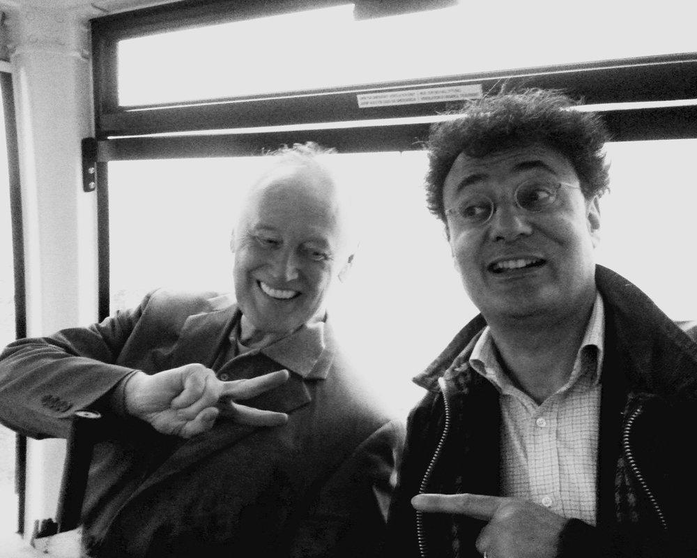 Reeves Lehmann (SVA) with Bartolomeo Corsini (Centro Sperimentale di Cinematografia)