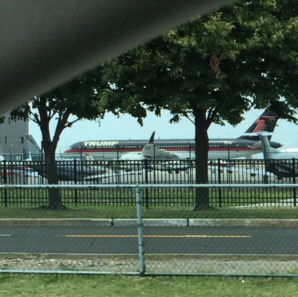 Trump's plane at BKL airport - taken from my car.