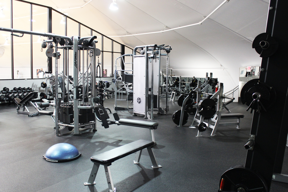 Weight Room  - featuring Hammer Strength, Hampton, and LifeFitness equipment along with numerous free weights