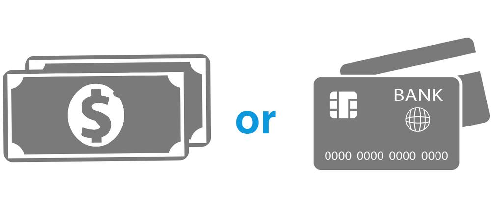 For your convenience, we accept cash or Visa debit/credit.