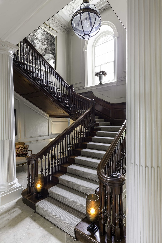 Classic Georgian House staircase, England. Stunning.
