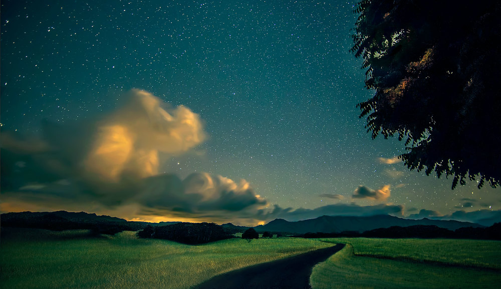"""Starry Night Over Kauai"" by Ian Value"