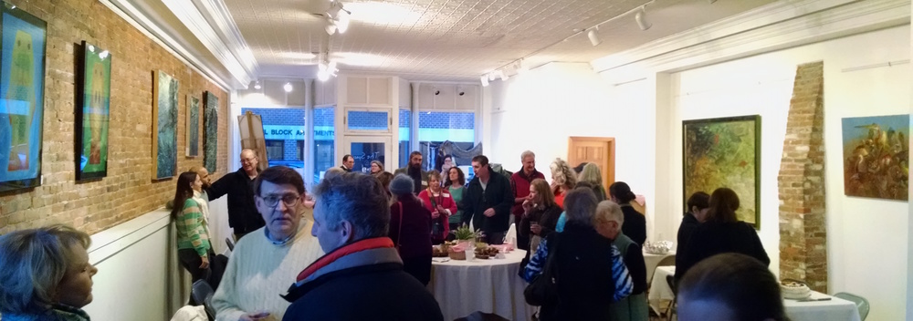 Over 60 Waldoboro and midcoast citizens filled the Space @ No. 9 in downtown Waldoboro to show their support for local community arts nonprofit Medomak Arts Project, which is launching a new wave of programming starting this month at No. 9, its community arts space.