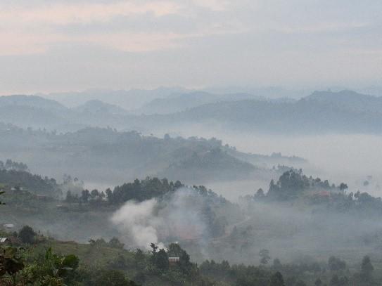 Uganda to the left. Rwanda dead ahead. The Congo to the right.