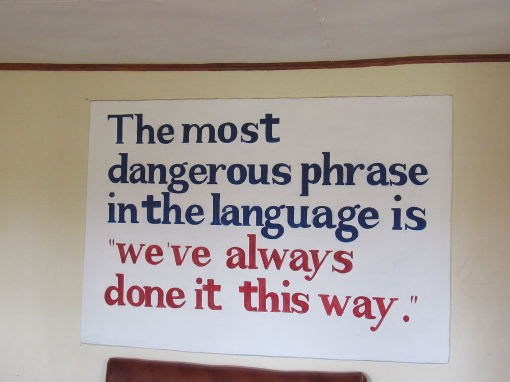 On the wall in NURU's office in Isibania, Kenya