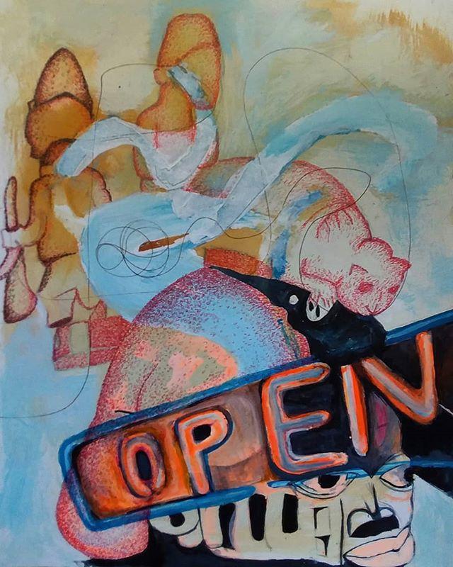 open for business 3 of 25. Ink on paper. #wip #art #instaart #ink #paper #artistsofinstagram #contemporaryart #art #colorful #artgallery #artcollector #newyear #newwork #houstonartist