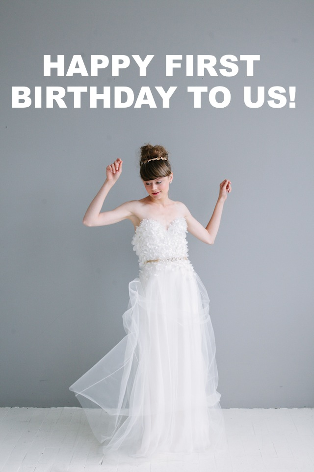 Our First Anniversary! — The Dress Theory