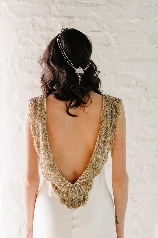 what to wear with your low back wedding dress