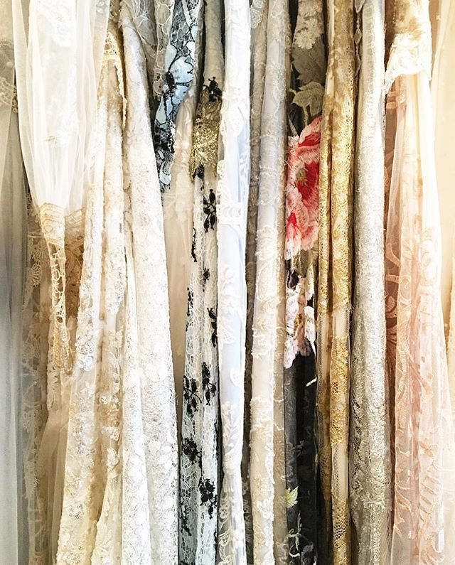 Gold, blue, black, rose gold, ivory✨ The @clairepettibone colors hanging pretty on our racks in every color imaginable 😍