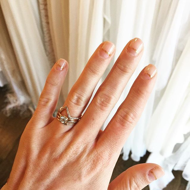 Sharing another Instagram Story featuring the bridal nail inspiration we recreated at our favorite place in Nashville for manicures and nail art, our neighbors @poppyandmonroe ✨ Love how it turned out! A perfect modern and simple wedding day manicure. Thanks for the inspiration @marrowfine_ ❤️