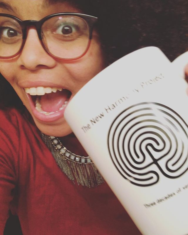 Back at the #NewHarmonyProject to dramaturg some new plays. Also NEW MUGS!?!? #blessed