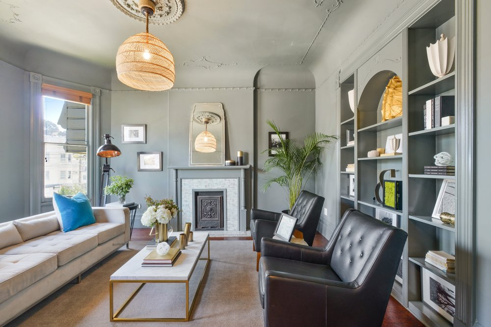 Eureka Valley flat embodies period grace in a hip setting -