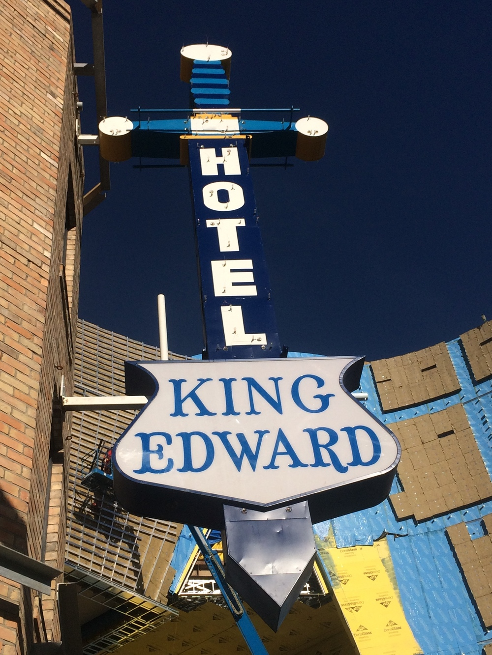 King Eddy sign re-installed October 2015