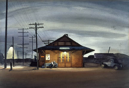 "Millard Sheets ""San Dimas Train Station"" 1933"