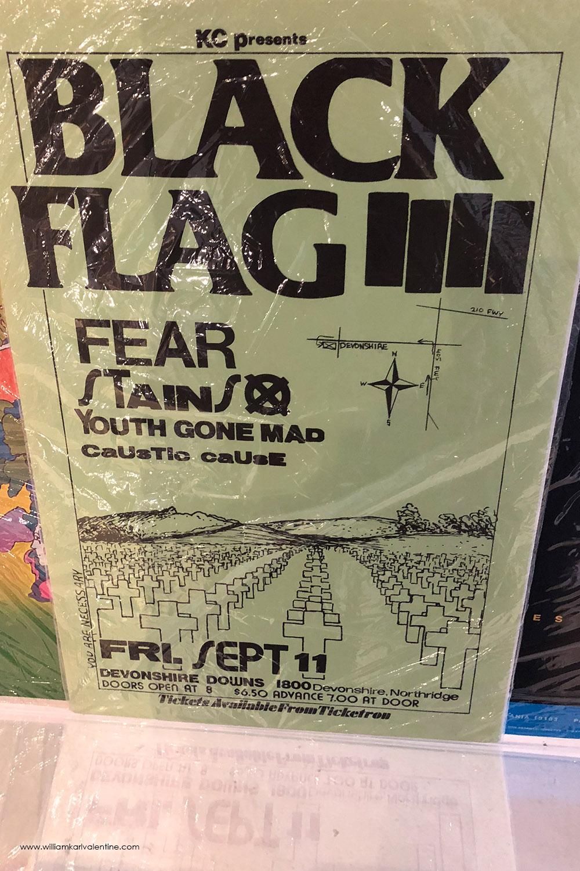 Vintage Black Flag Flyer
