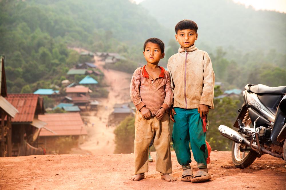 Children in northern Laos.