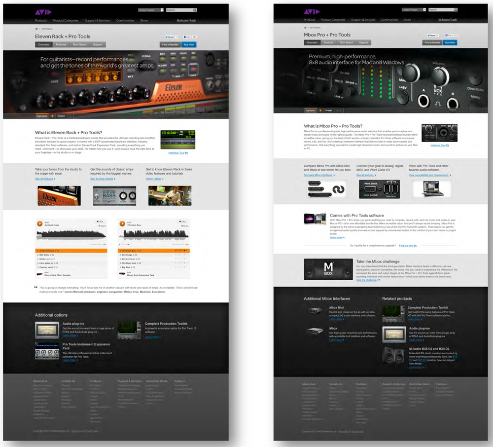 Avid Website Redesign
