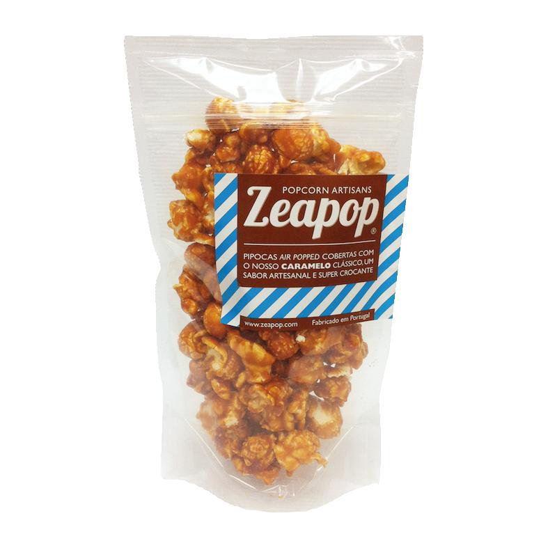 CARAMELO CLÁSSICO Pipocas Air Popped cobertas com o nosso Caramelo Clássico, um sabor artesanal e super crocante.