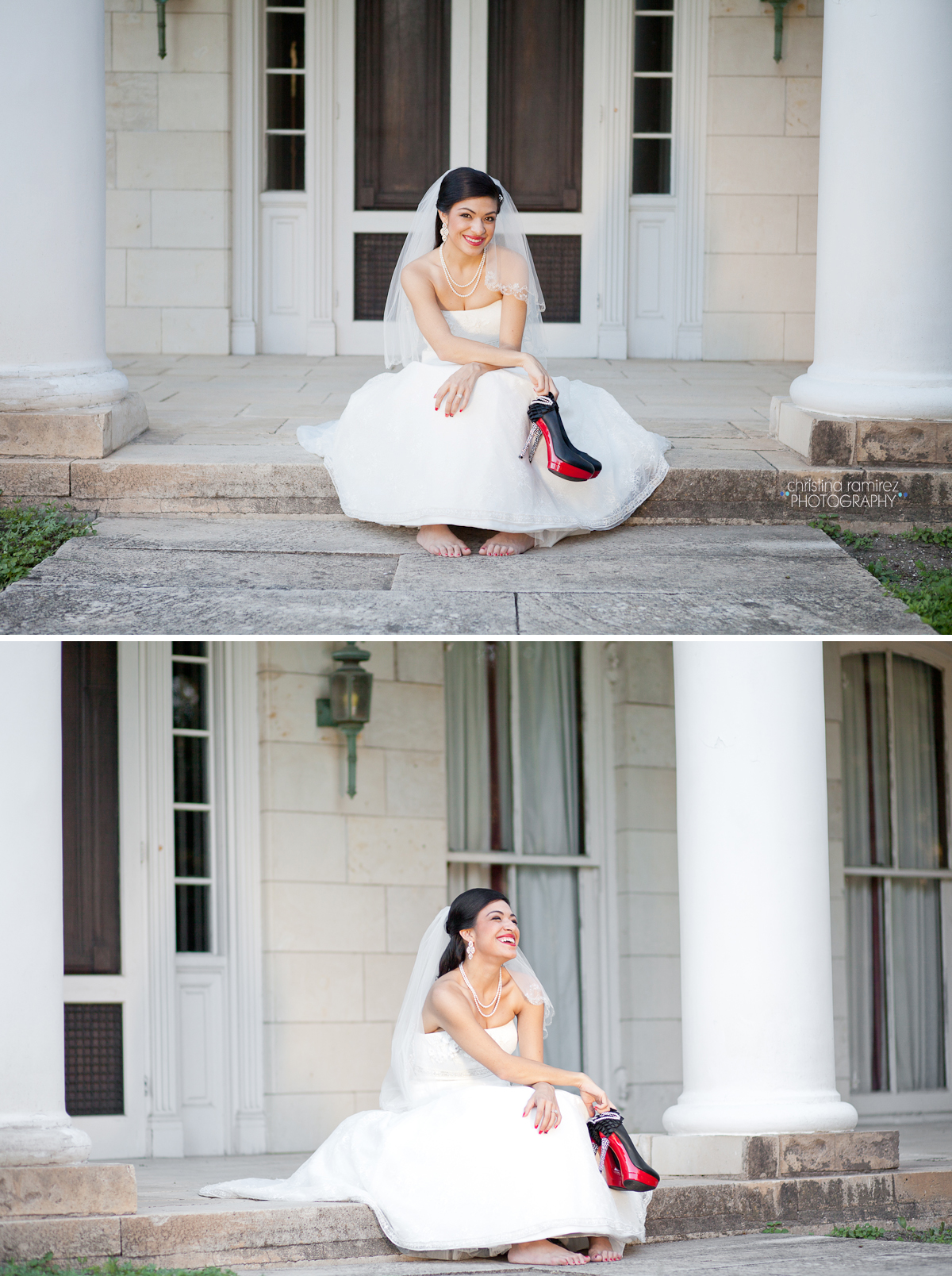 modern bride portraits