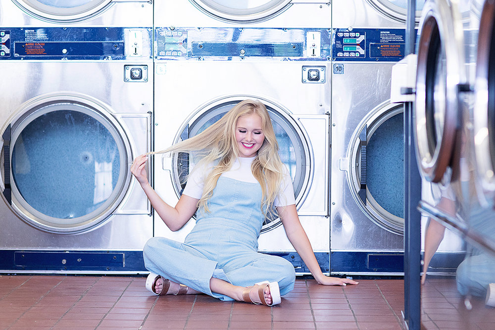 laundromat senior pictures laundromat editorial christina ramirez photography